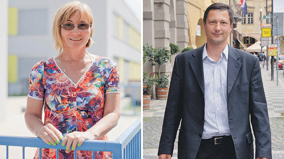 Brno vs. Praha. O nejvyšší post se utkají Jana Drápalová z Brna a Petr Štěpánek z Prahy.