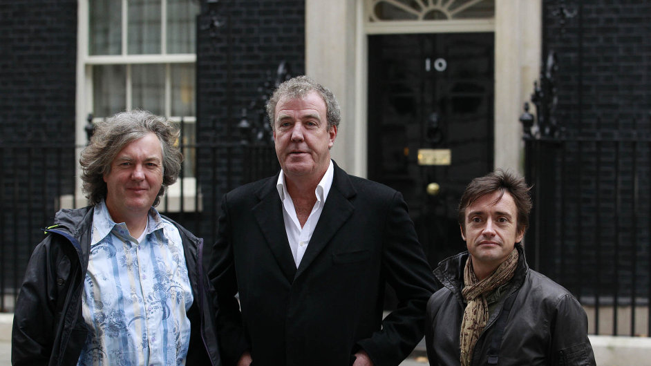 Tým Top Gear: Zleva James May, Jeremy Clarkson a Richard Hammond.