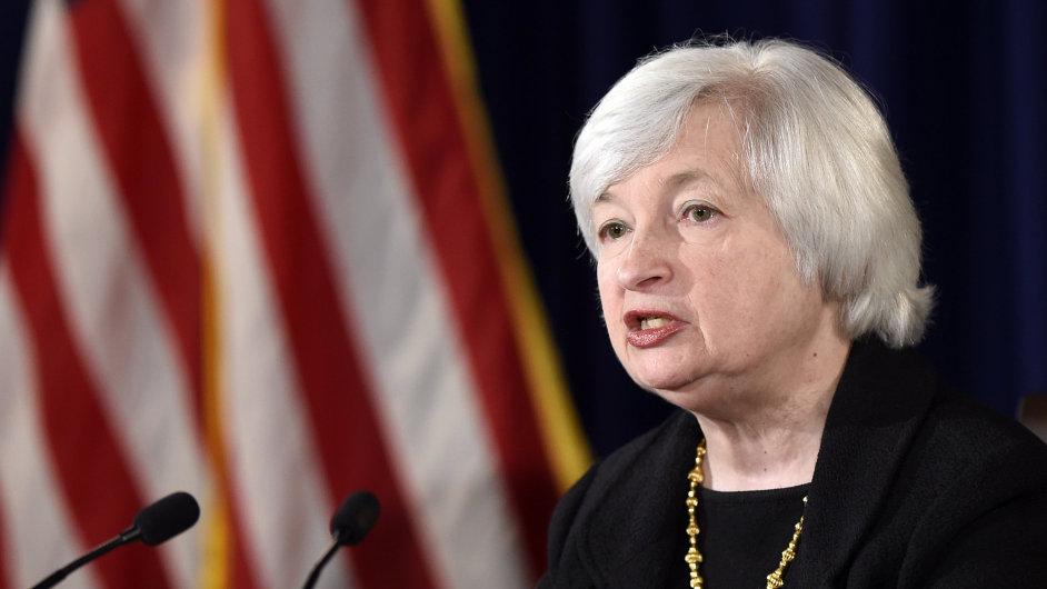 Šéfka amerických státních rezerv Janet Yellenová