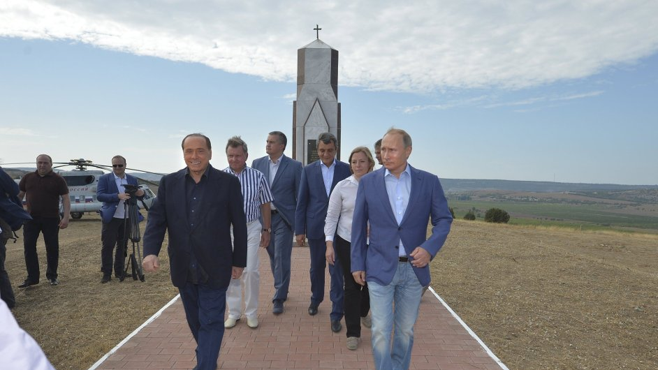 Rusko, Itálie, Krym, Putin, Berlusconi