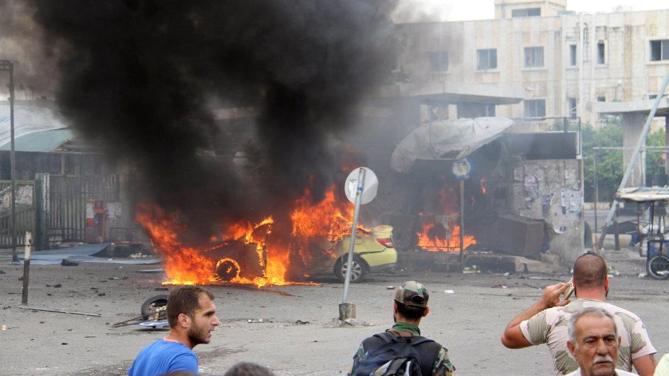 Sýrie, Tartús, útok 23.5., zemřelo 70 lidí