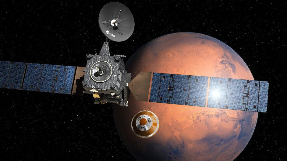 Modul Schiaparelli pořídí na povrchu Marsu fotografie a provede vědecká měření.