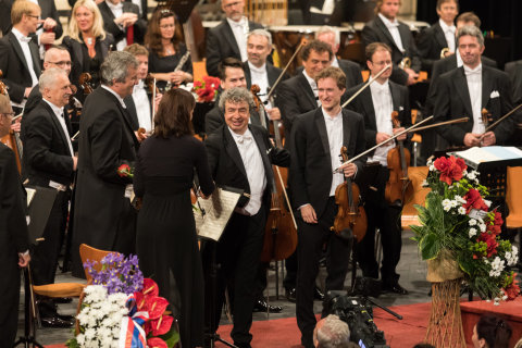 Snímek z pátečního zahajovacího koncertu Smetanovy Litomyšle.