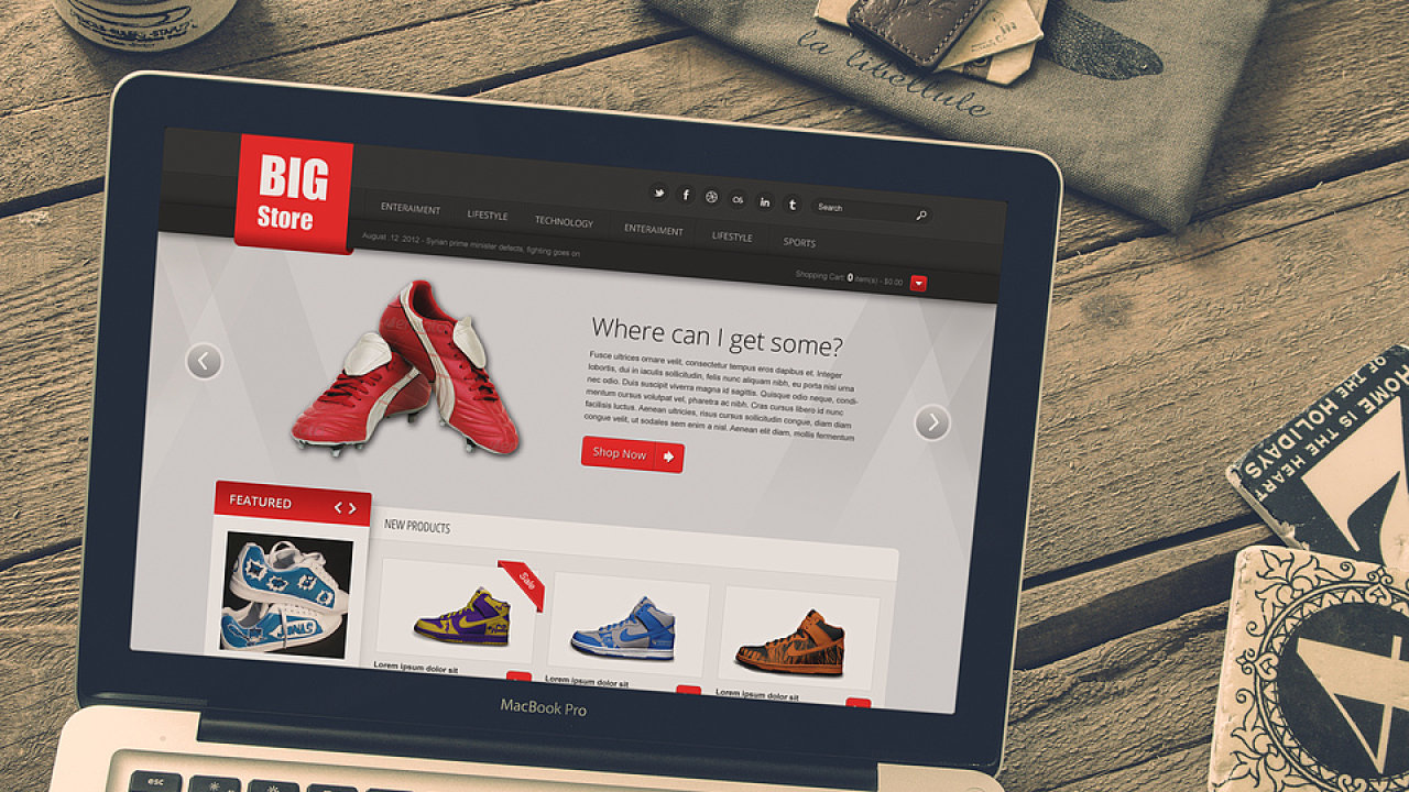 E-shopy, nákupy na internetu (ilustrační foto)