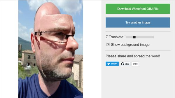 3D model tváře vytvořený umělou inteligencí z jedné fotografie