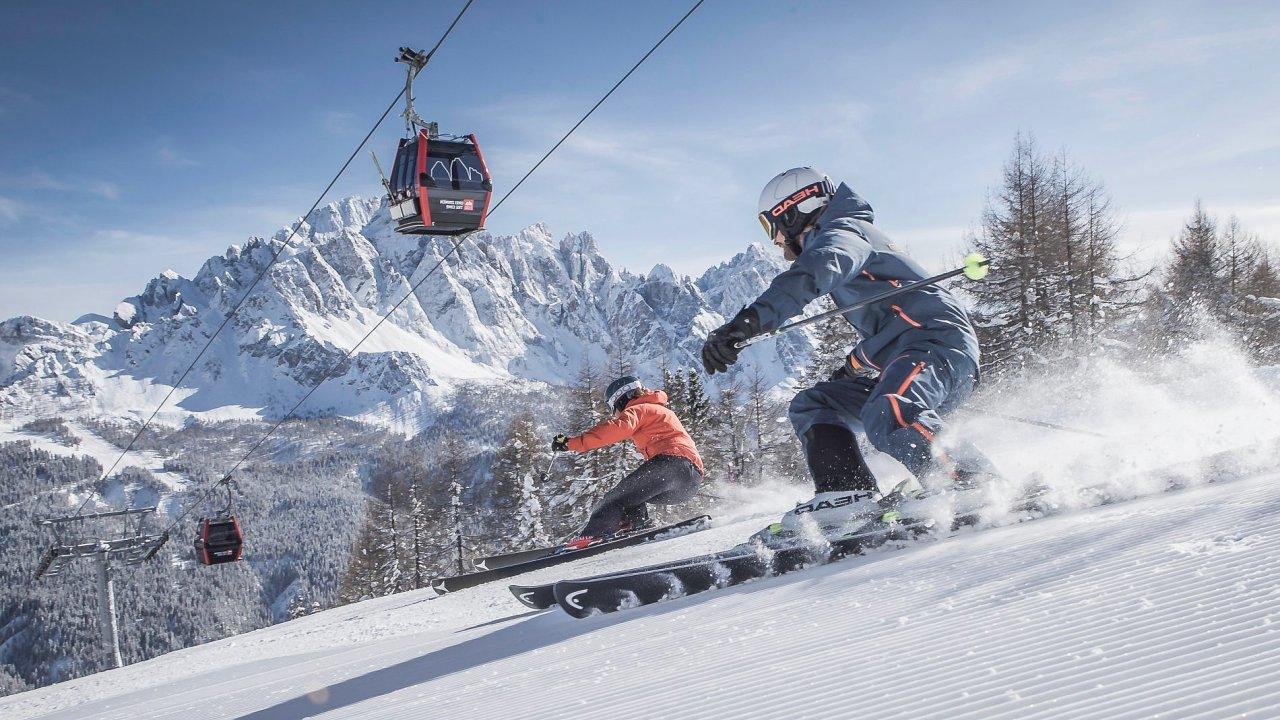 Lyžarské středisko Tre Cime v Dolomitech