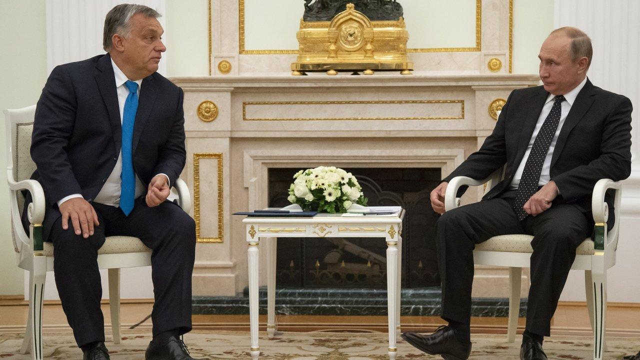 Maďarský premiér Viktor Orbán je na návštěvě v Moskvě.