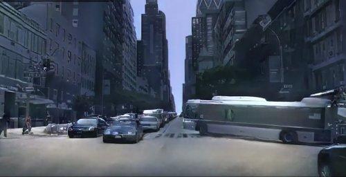 Záběr ze hry vytvořené umělou inteligencí.