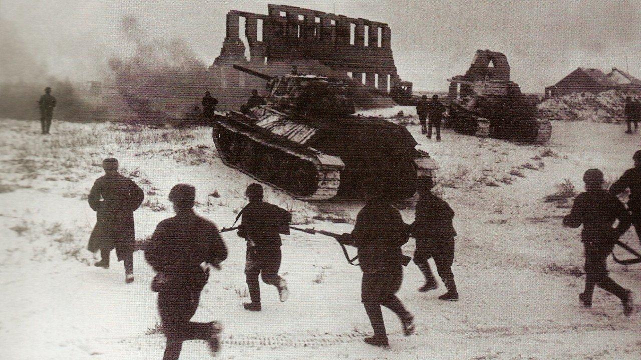 Rudá armáda obkličuje německá vojska bojující ve Stalingradu u Kalače