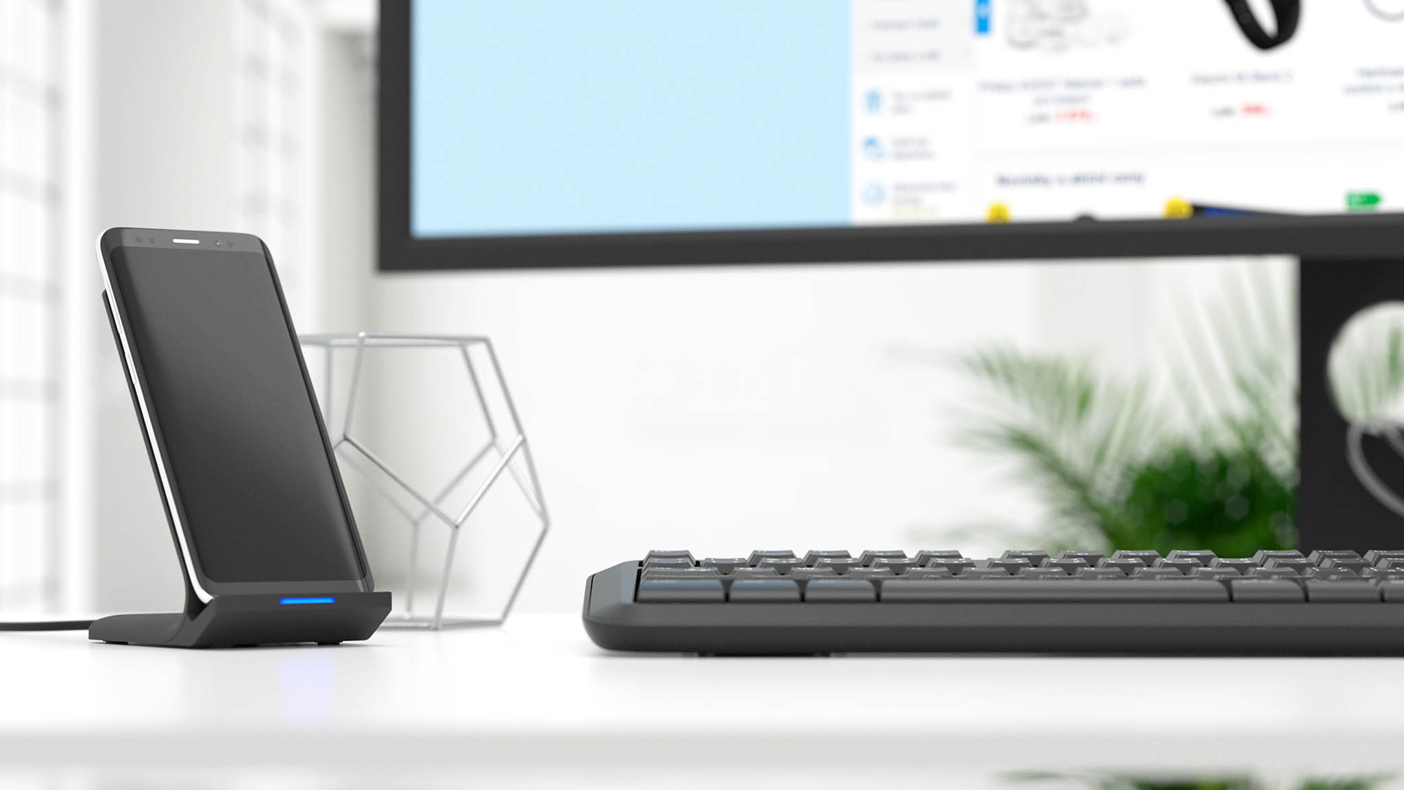 Rychlá bezdrátová nabíječka AlzaPower podporuje i 10W dobíjení.
