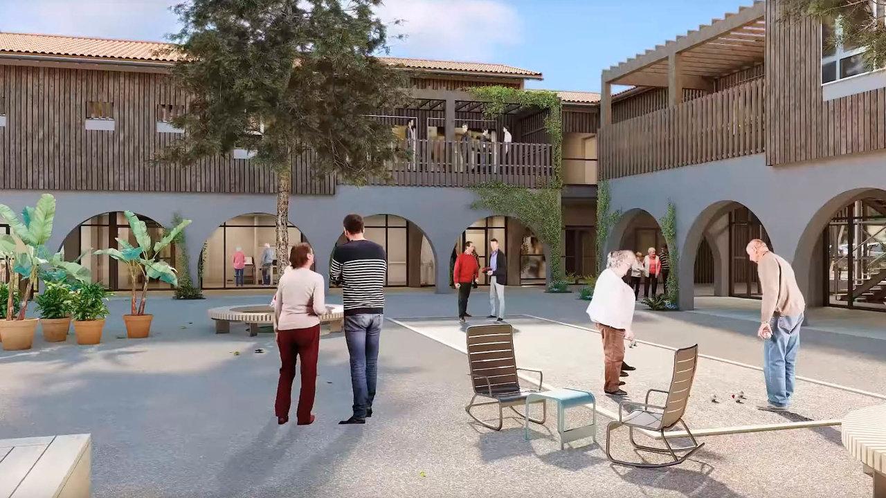 Nové sídlo: Vesnice pro pacienty sAlzheimerovou chorobou chce udržet lidi co nejdéle vběžném životě.