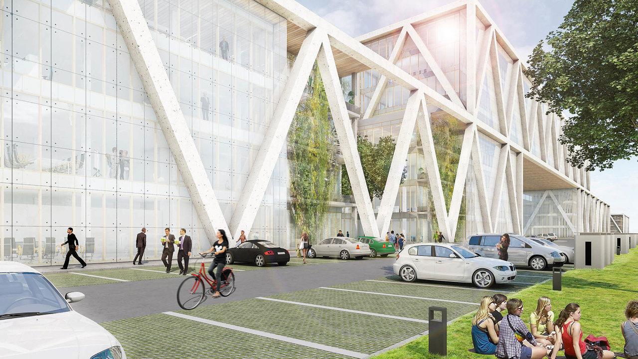 Společnost Panattoni by ráda postavila tři haly vnejvyšším ekologickém standardu ahovoří onich rovnou jako oprůmyslové zóně 4.0.