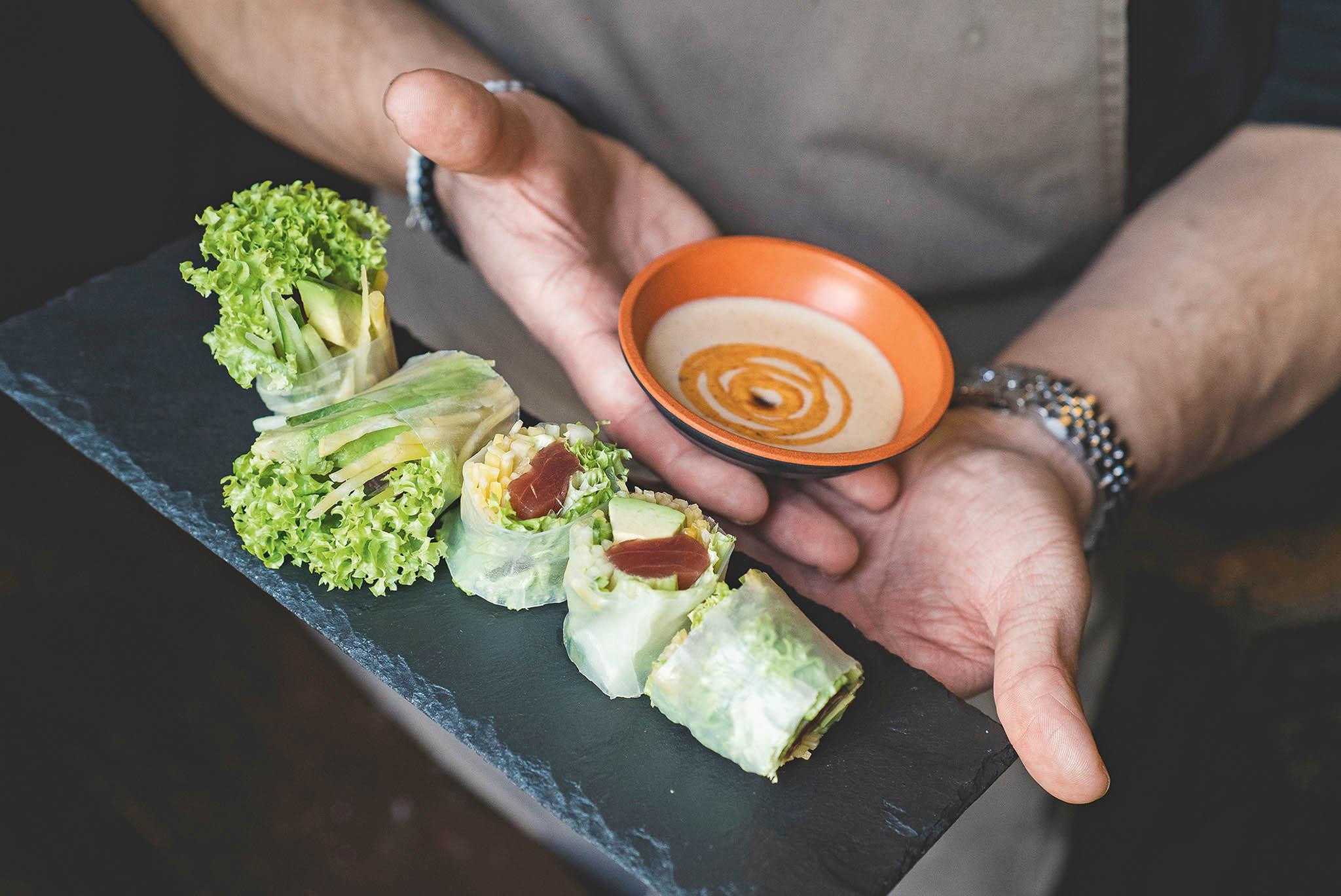 Vedle sushi jsou oblíbené také letní závitky.