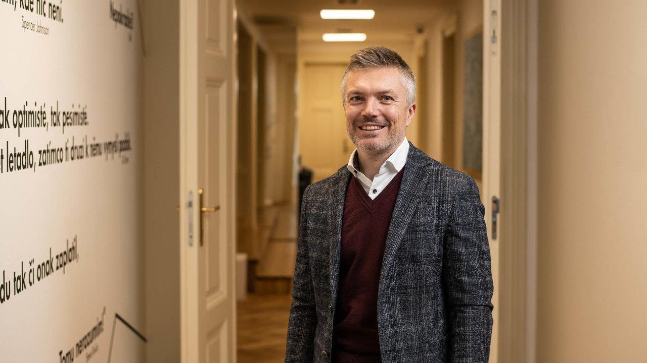 Tomáš Pardubický, generální ředitel skupiny Finep, připravuje své projekty kvůli dlouhému procesu povolování staveb vČesku zhruba sedm let.