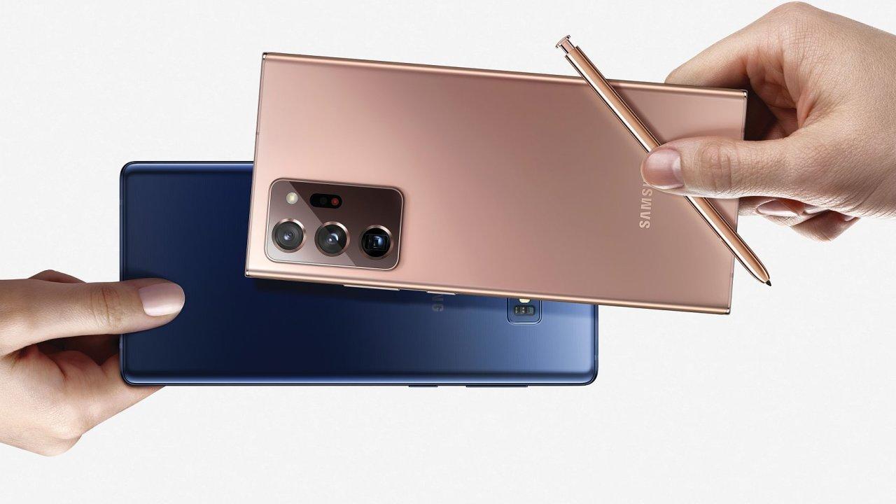 Galaxy Note 20 a 20 Ultra mají nové barvy, lepší fotoaparáty a spoustu nových funkcí