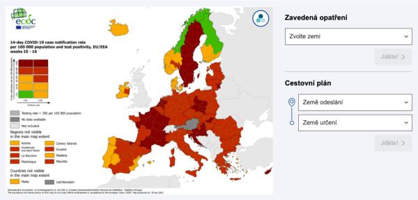 Cestovatelská aplikace EU