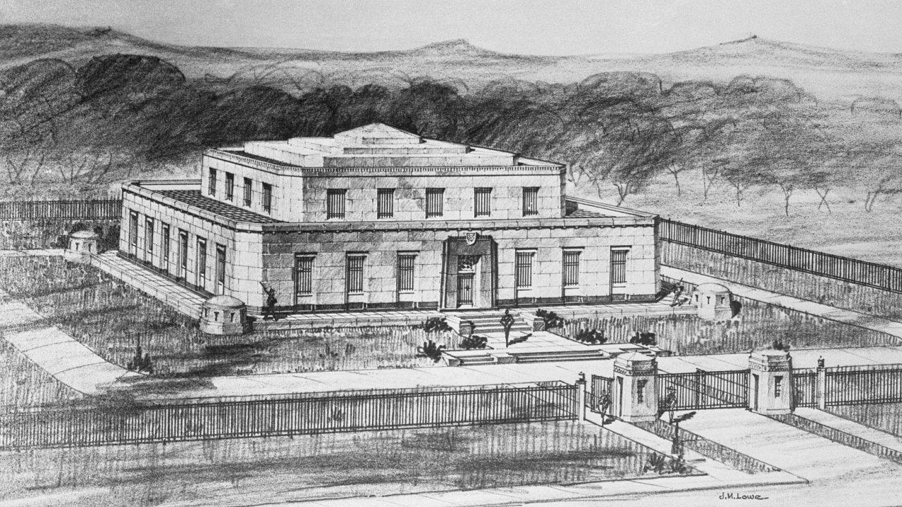 Fort Knox, Kentucky. Opevněná schránka na tisíce tun zlata vznikla za vlády presidenta F. D. Roosevelta. V poválečných letech toto bohatství podpíralo mezinárodní měnový systém.
