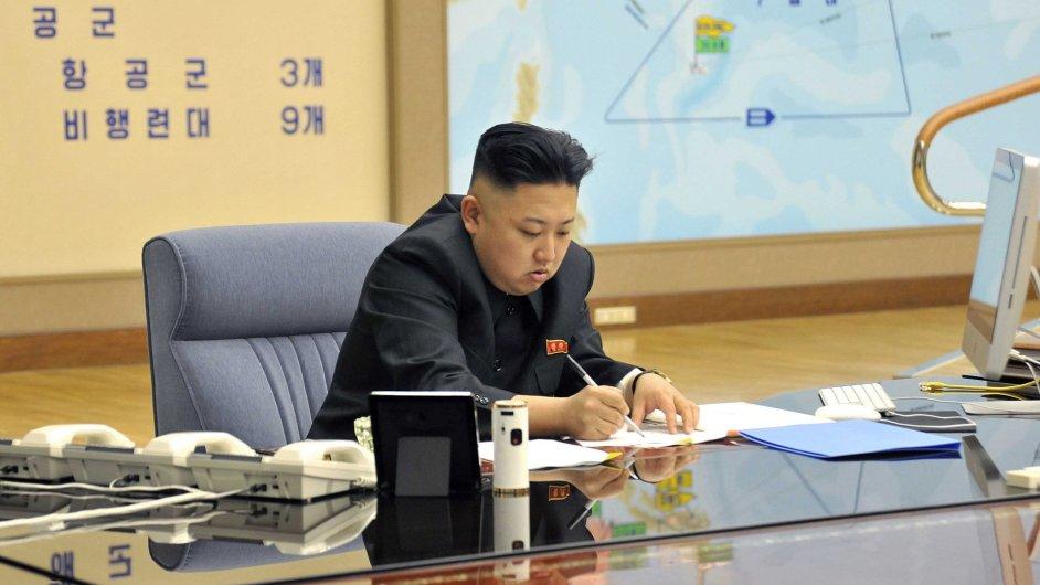 Kim Čong-un před plánem útoku na USA