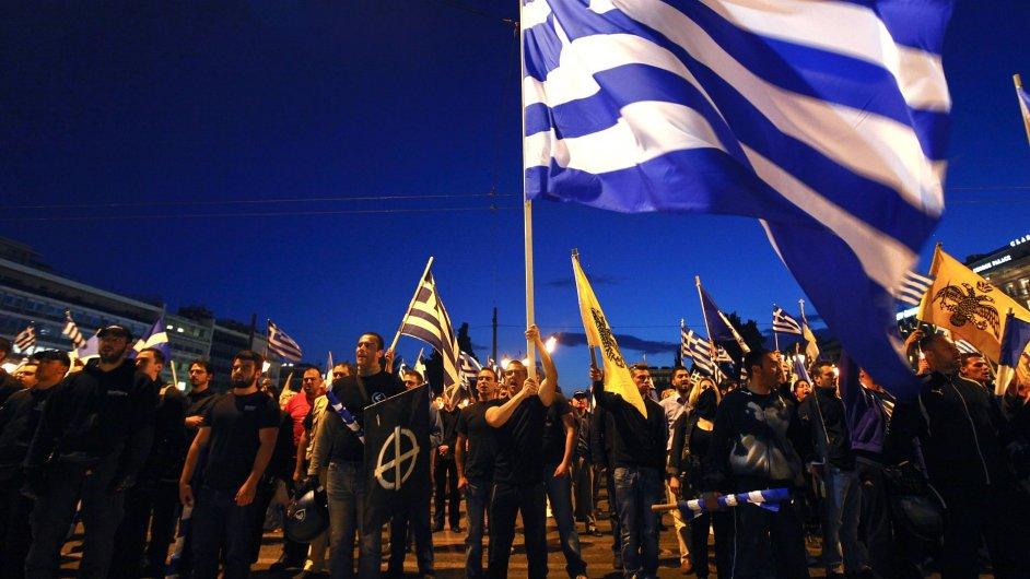 Setkání příznivců radikální strany Zlatý úsvit