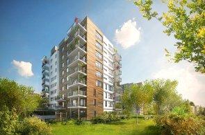 Bytový dům projektu Hostivař - Nad přehradou o devíti nadzemních podlažích.