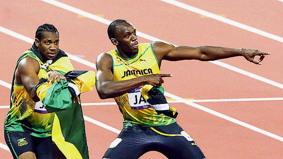 Yohan Blake (vlevo) a Usain Bolt.