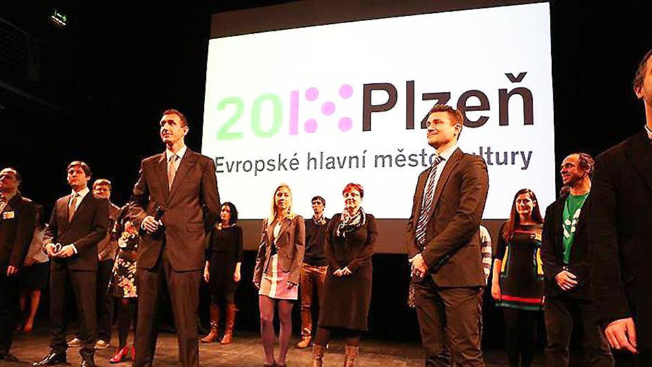 Snímek z loňského představení programu Plzeň 2015 v pražském Divadle Archa.