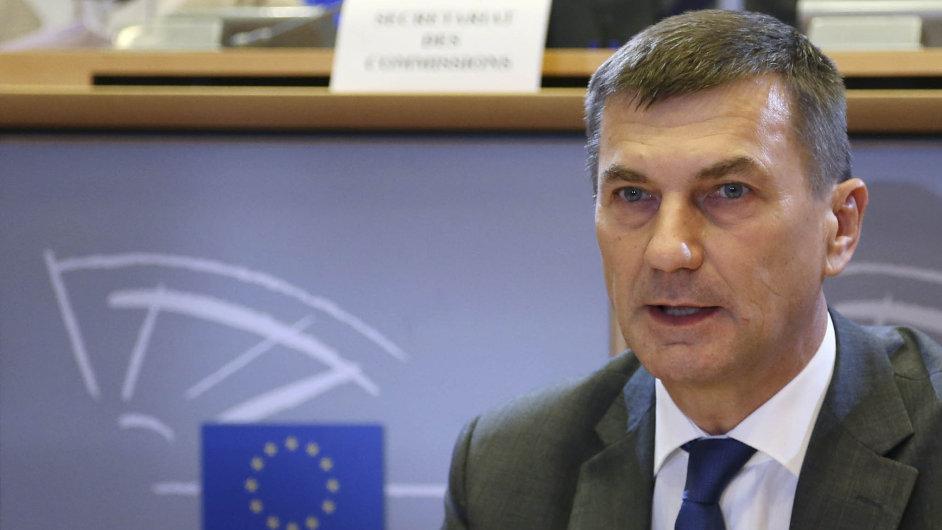 Místopředseda Evropské komise pro jednotný digitální trh Andrus Ansip.