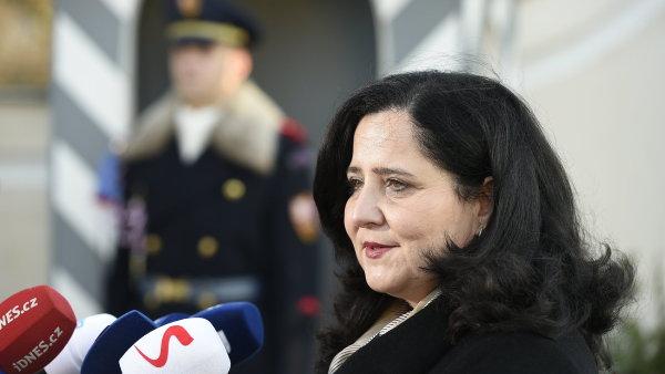 Kandidátka na ministryni práce a sociálních věcí Jaroslava Němcová.