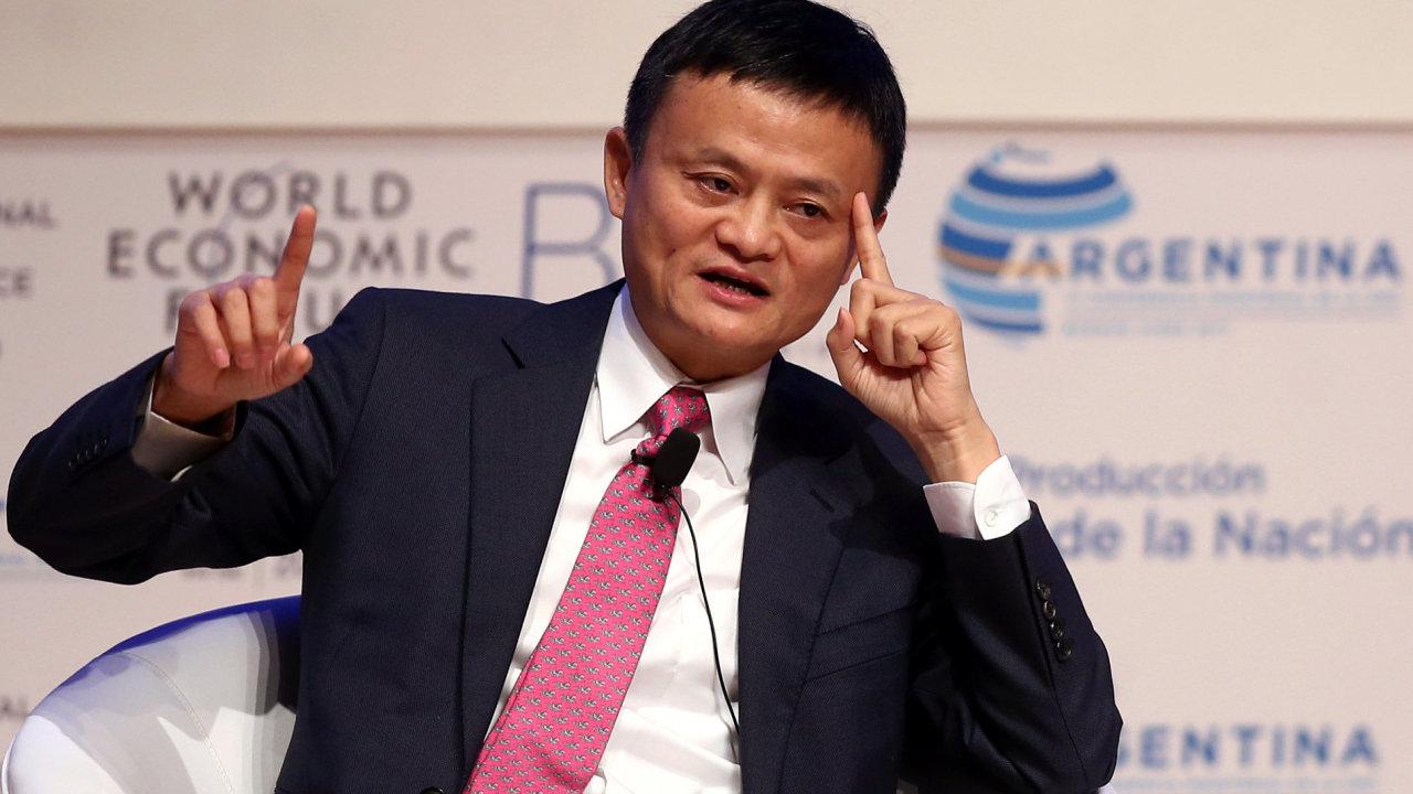 Jack Ma, majitel internetového obchodního gigantu Alibaba.