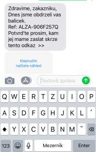 Podvodná SMS Alza