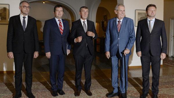 Na Pražském hradě se 12. září 2018 sešli kvůli koordinaci zahraniční politiky ústavní činitelé.