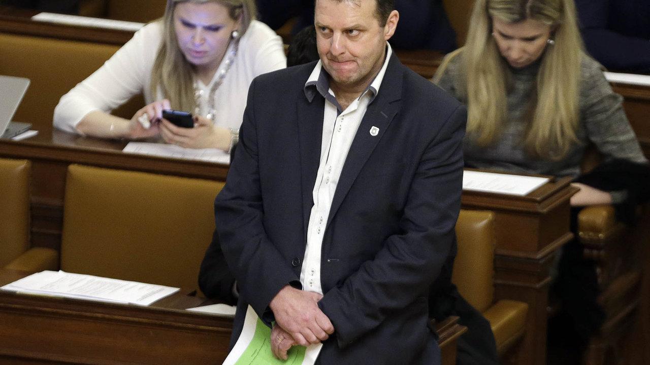Komunistický poslanec Zdeněk Ondráček.