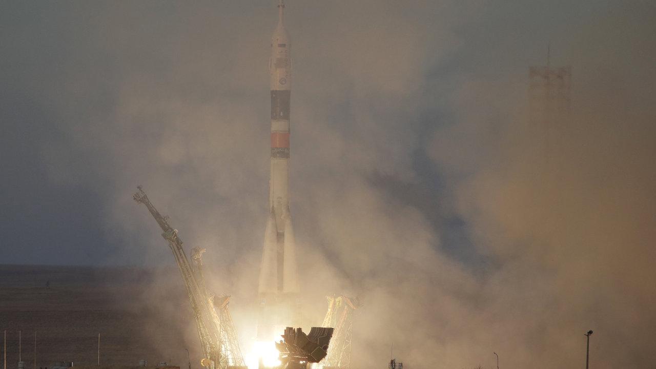 Sojuz při startu.