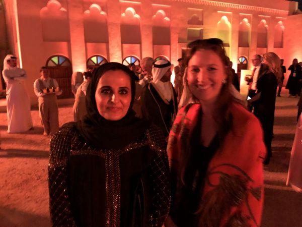 První dáma CCPF Natálie Cnota s šejchou Al-Mayassa bint Hamad bin Khalifa Al-Than