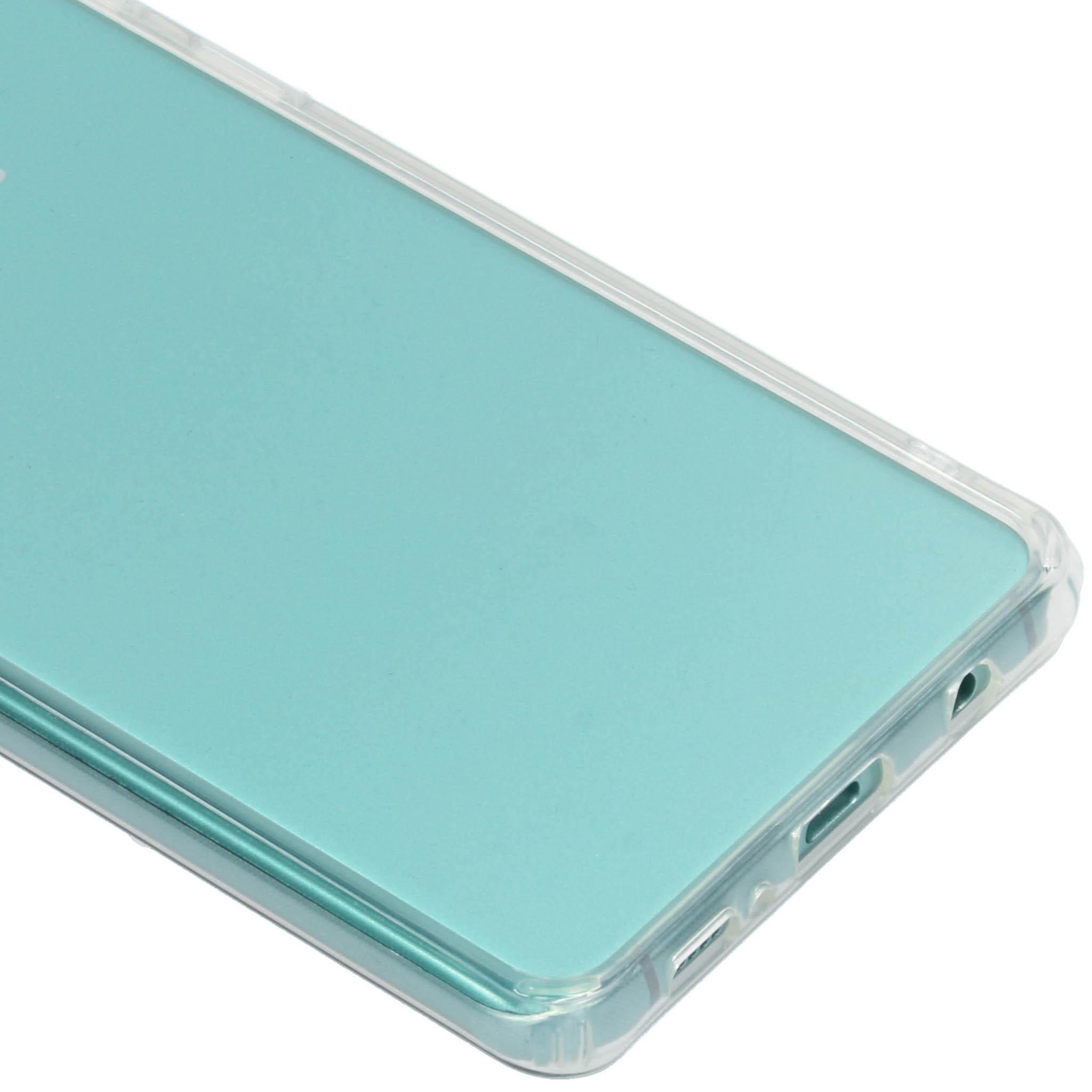 Obal PanzerGlass ClearCase zvětšiny tvoří podobné tvrzené sklo, jaké kryje samotný telefon.