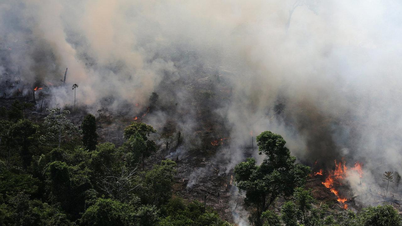 Požáry v Amazonii.