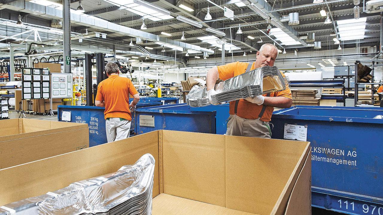 """Škoda Auto zařadila """"optimalizaci balení"""" a""""eliminaci spotřeby papíru aobalového materiálu"""" vobdobí 2017 až 2018 mezi čtyři klíčové logistické projekty, které se zaměřily nasnížení dopadu firmy naživotní prostředí."""
