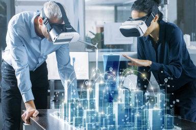 Profesionální využití virtuální reality spočívá hlavně vtom, že sečlověkpřenese třeba přímo doarchitektonického návrhu svého nového domu nebo si navolí přesně takové auto, jaké chce.
