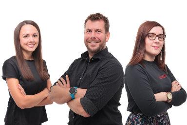 Kamila Ornstová, Jan Nádr a Barbora Majerová, digitální agentura Taste