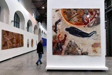 Snímek z výstavy Františka Skály v brněnské Fait Gallery.