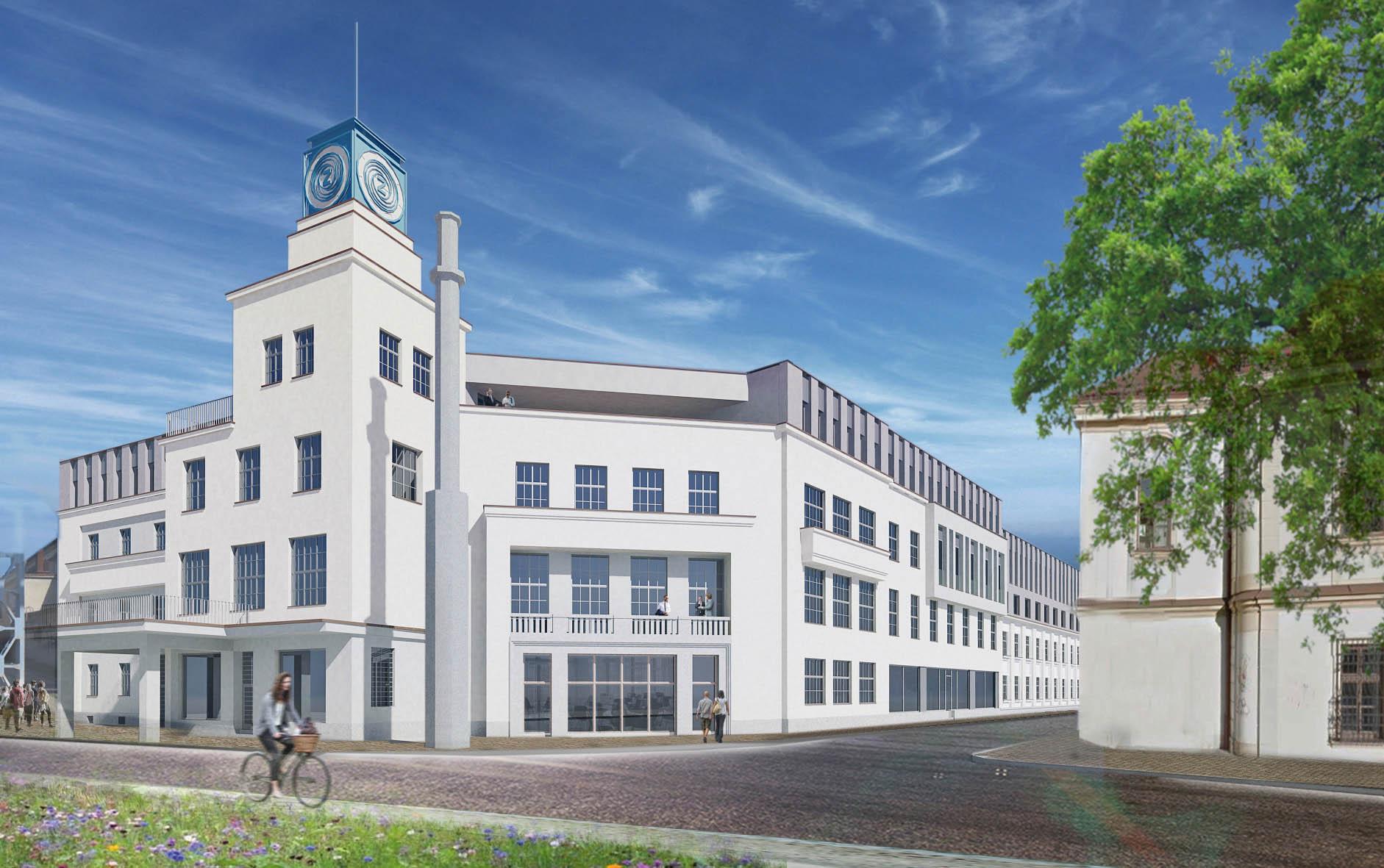 Společnost CPI Property Group představila roku 2016 projekt Nová Zbrojovka, zahrnující moderní administrativní budovy, obytné zóny iobchodní avolnočasové prostory.