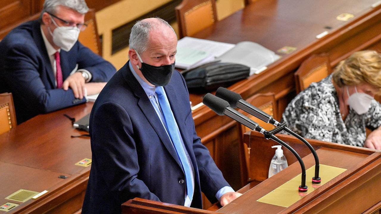 Ministr zdravotnictví Roman Prymula na středečním jednání sněmovny.