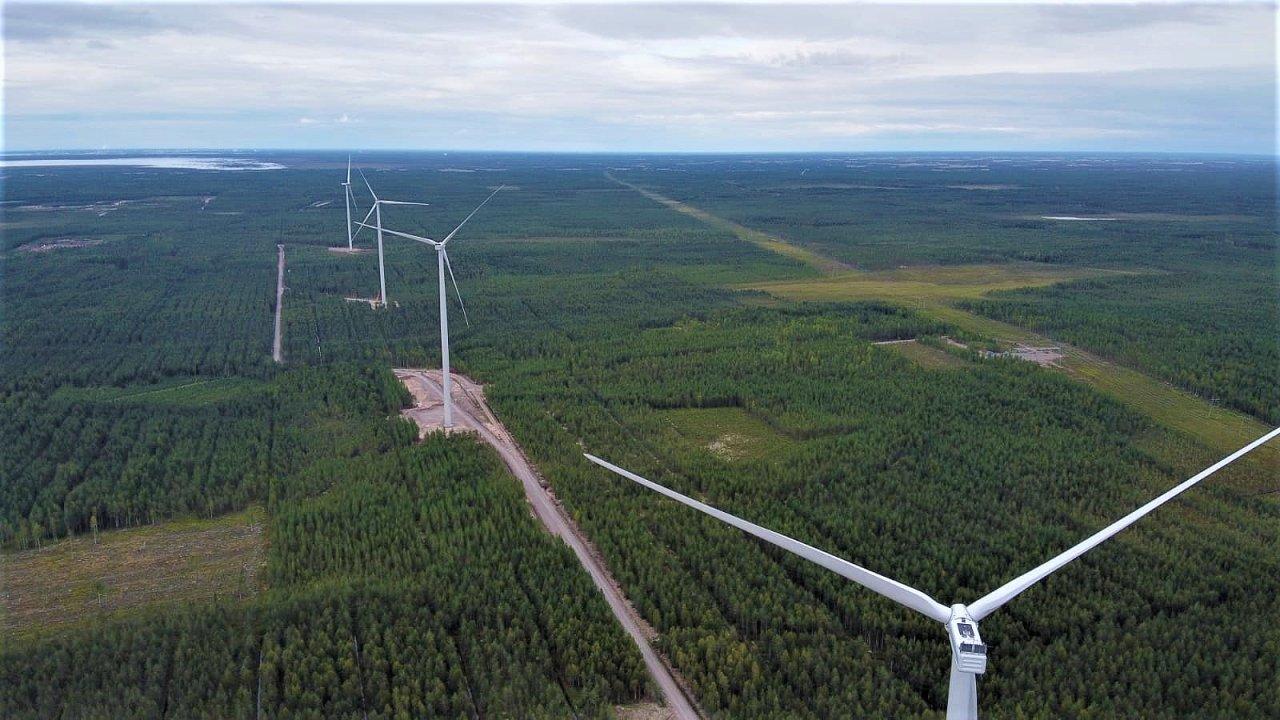 Větrná energie zažívá vpětimilionovém Finsku velký rozmach. Jen minulý rok vzemi přibylo 243 megawattů větrných turbín.