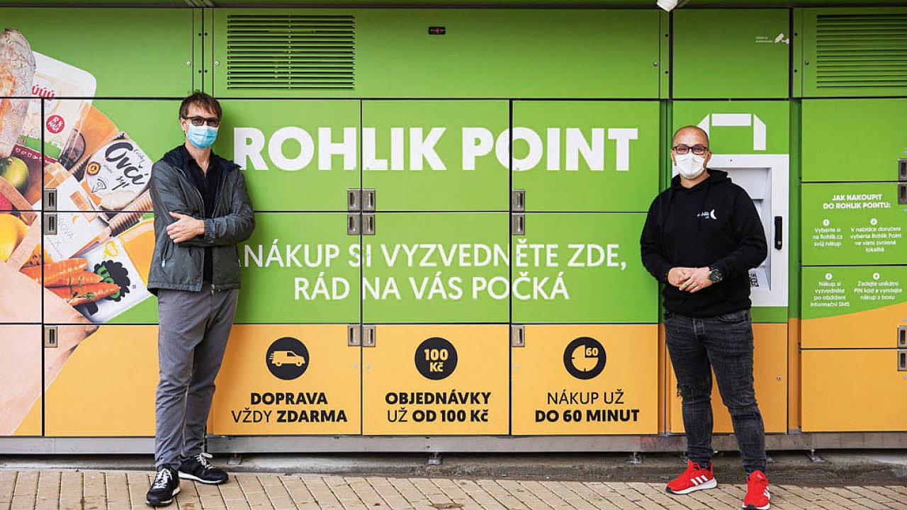 Vlevo šéf Rohlík.cz Petr Pavlík, vpravoLadislav Janckulík