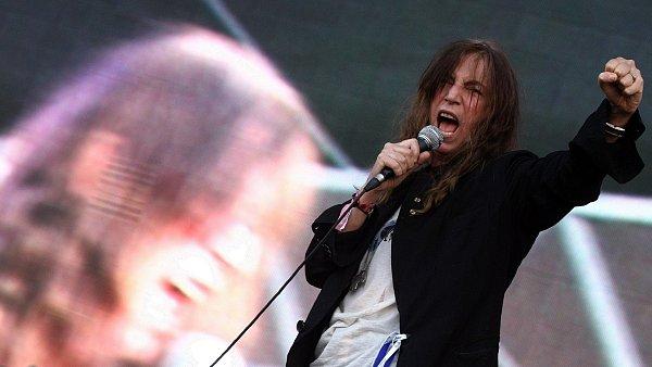 Patti Smith na trenčínském festivalu Pohoda