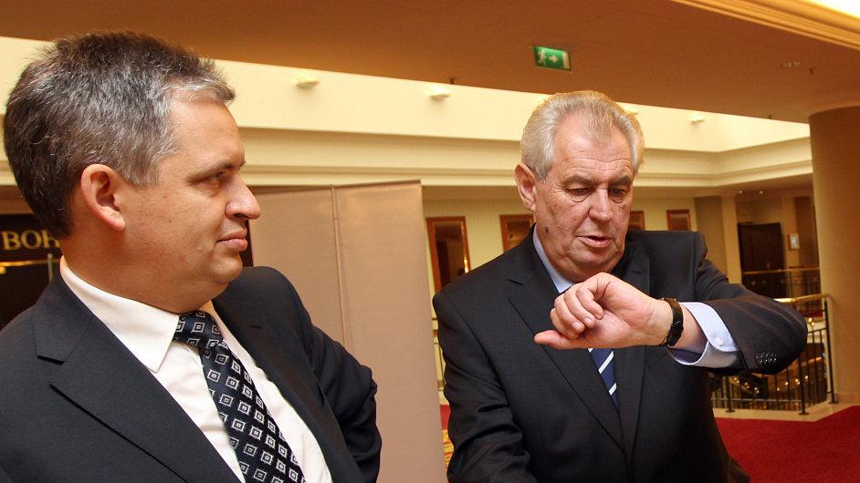 Jiří Dienstbier a Miloš Zeman