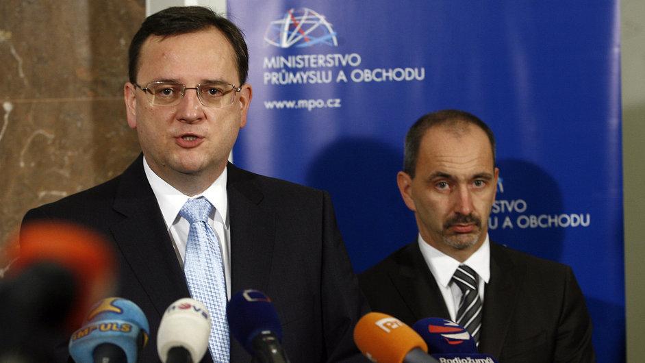 Martin Kuba a premiér Petr Nečas