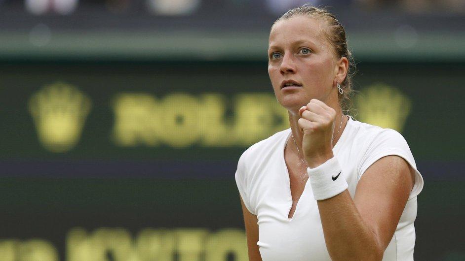 Petra Kvitová v utkání s Kirsten Flipkensovou