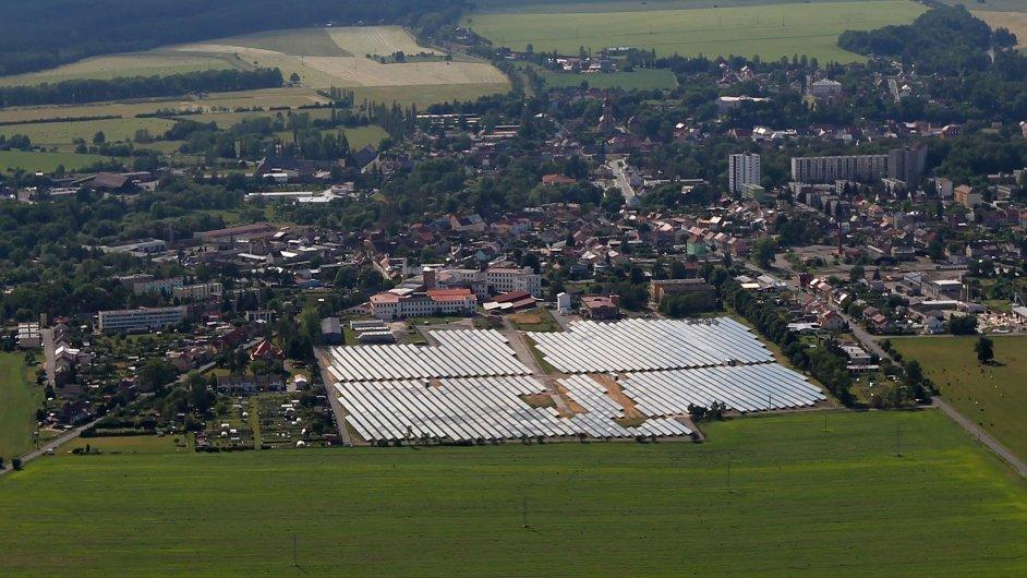 Solární elektrárny v lokalitě Ralsko - Mimoň