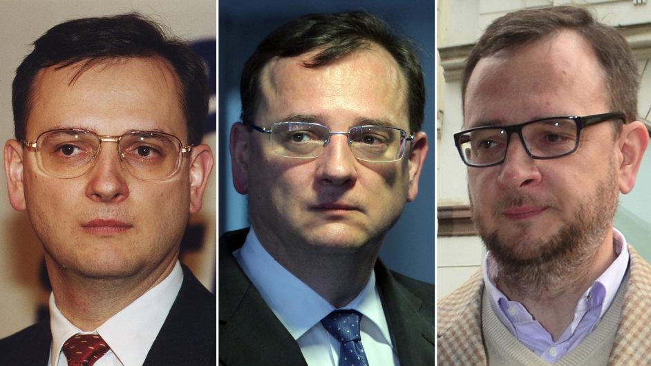 Petr Nečas v roce 2002, po pádu vlády v červnu 2013 a v listopadu 2013